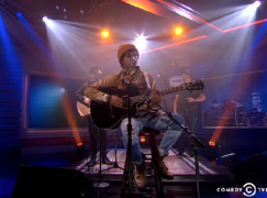 Raury performs on The Nightly Show