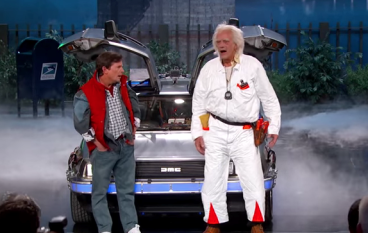 Marty McFly & Doc Brown Visit Jimmy Kimmel Live / Nike Air Mags