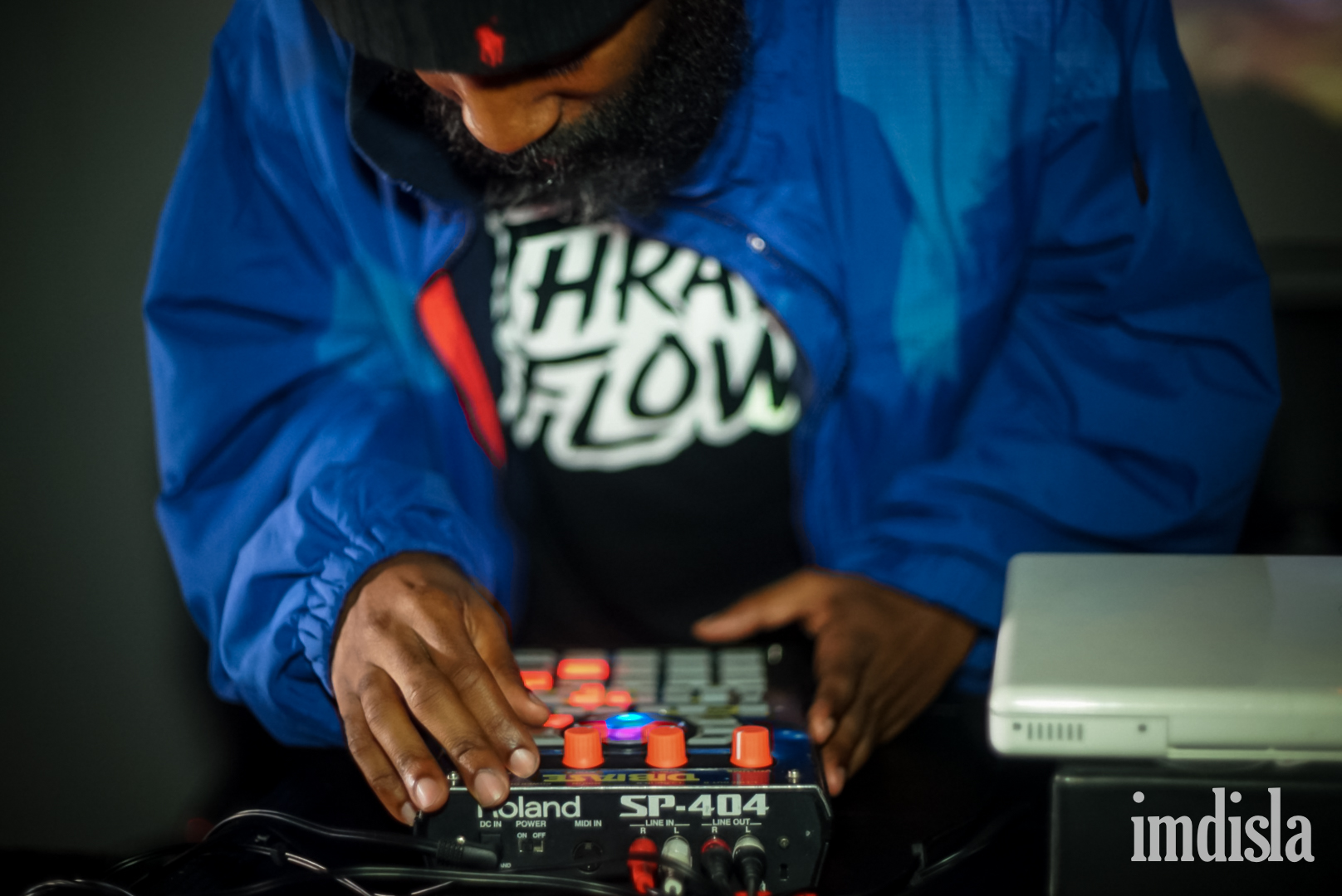 Dibia$e doing his thing on the Roland SP404