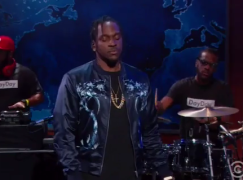 """Pusha T performs """"Sunshine"""" on 'The Daily Show'"""