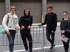 NYC Street Style during NYFWM : Group Shot